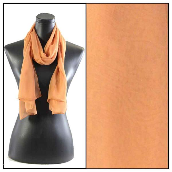 Silky Dress Scarves Solid Copper S13 -