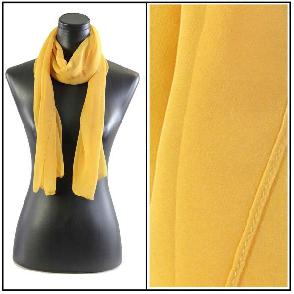 Silky Dress Scarves Solid Mustard S14 -
