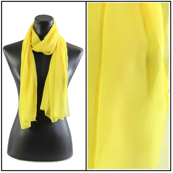 Silky Dress Scarves Solid Yellow S15 -