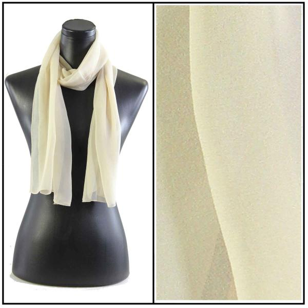 Silky Dress Scarves Solid Tan S18 -