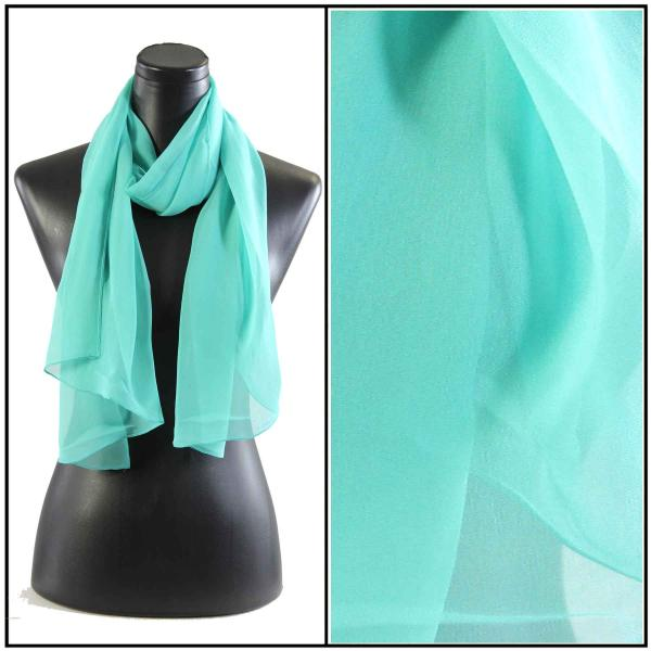 Silky Dress Scarves Solid Jade S22 -