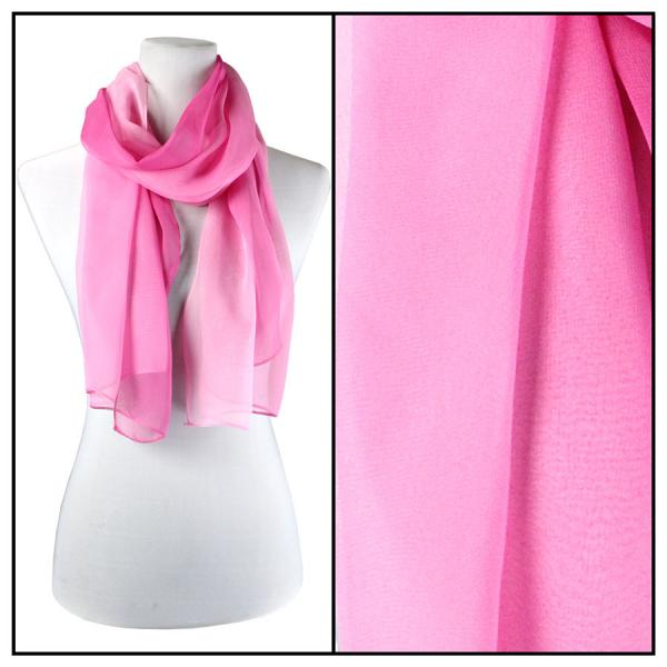 Silky Dress Scarves Tri-Color - Pinks TC03 -
