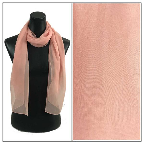 Silky Dress Scarves Solid Blush S26 MB -