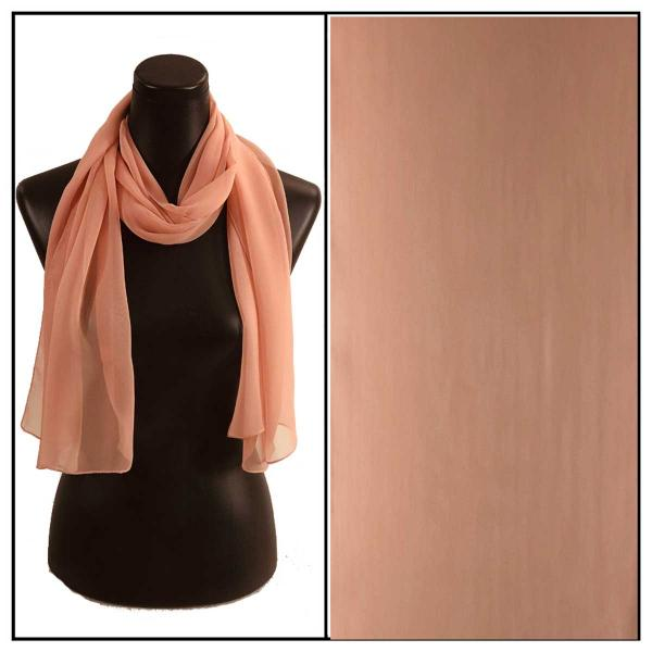 Silky Dress Scarves Solid Cantaloupe S27 MB -