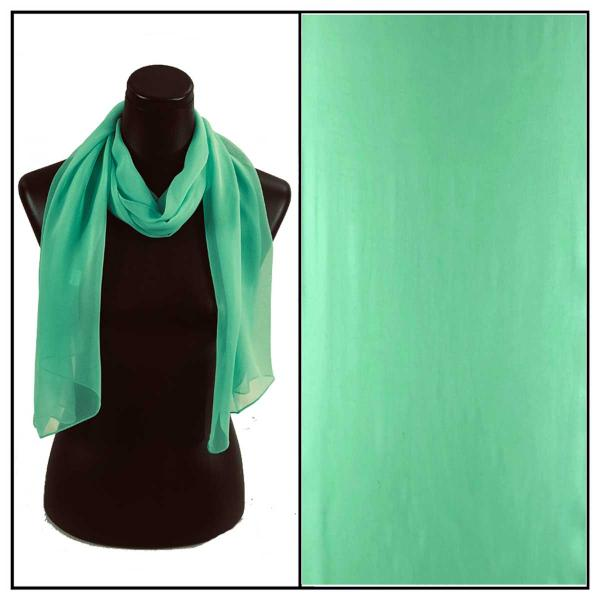 Silky Dress Scarves Solid Mint S30 -
