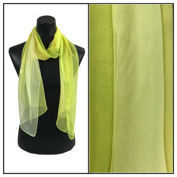 Silky Dress Scarves Tri-Color - Lemon-Lime-Ivory TC26 -
