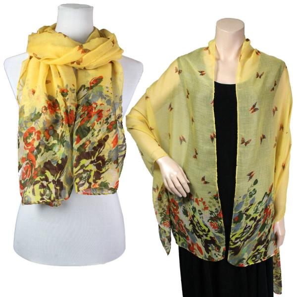 Big Scarves/Shawls - Butterfly Bottom 967* Yellow -