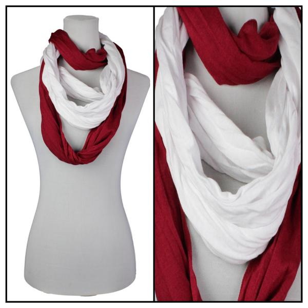 Wholesale C Double Infinity Scarves - Team Spirit 200* Crimson-White (Alabama) Infinity Scarves - Team Spirit 200* -