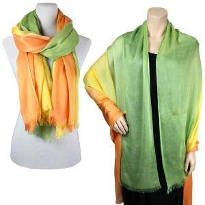 Big Scarves/Shawls - Ombre 979* Yellow-Green -