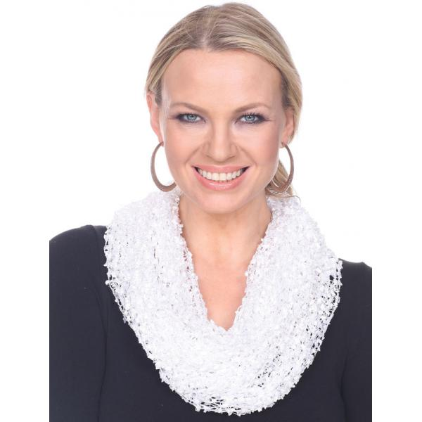 Wholesale Infinity Scarves - Confetti 26791 White -