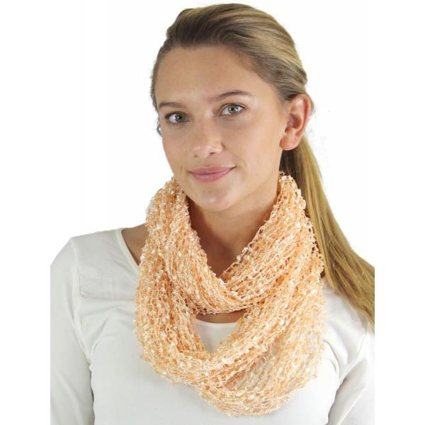 Wholesale Infinity Scarves - Confetti 26791 Peach -