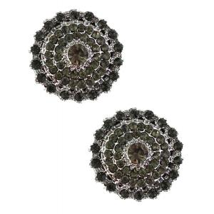 wholesale Magnetic Brooches - Small Double Sided MB327 Black (Double Sided) -