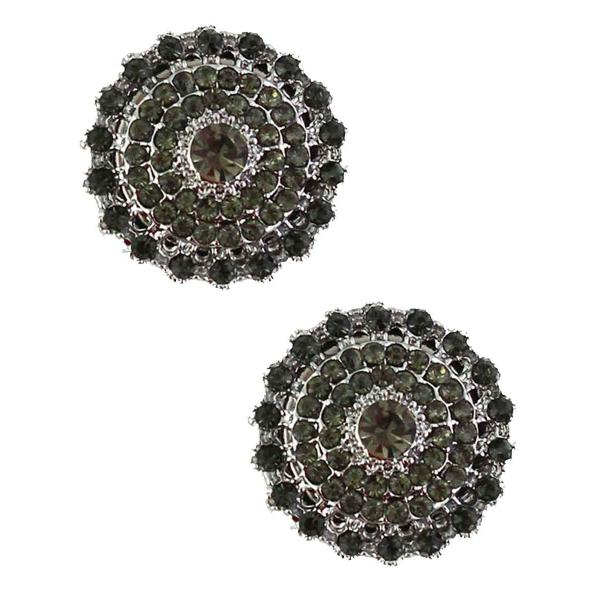 Magnetic Brooches - Small Double Sided MB327 Black (Double Sided) -