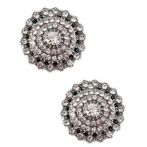 wholesale Magnetic Brooches - Small Double Sided MB327 Clear (Double Sided) -