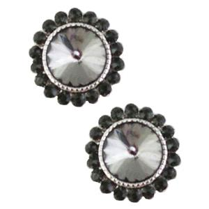 wholesale Magnetic Brooches - Small Double Sided MB333 Black (Double Sided) -