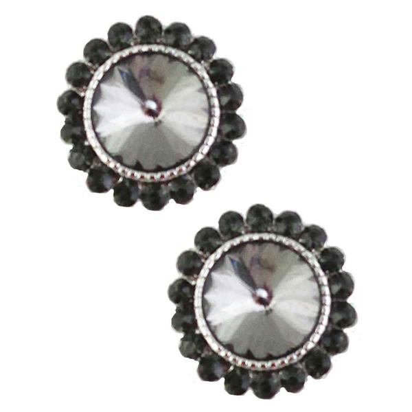 Magnetic Brooches - Small Double Sided MB333 Black (Double Sided) -