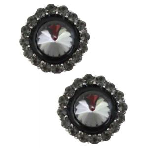 wholesale Magnetic Brooches - Small Double Sided MB334 Black (Double Sided) -