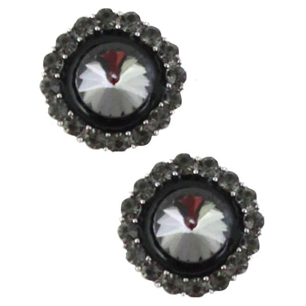 Magnetic Brooches - Small Double Sided MB334 Black (Double Sided) -