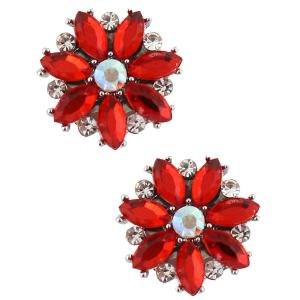wholesale Magnetic Brooches - Small Double Sided MB335 Red (Double Sided) -