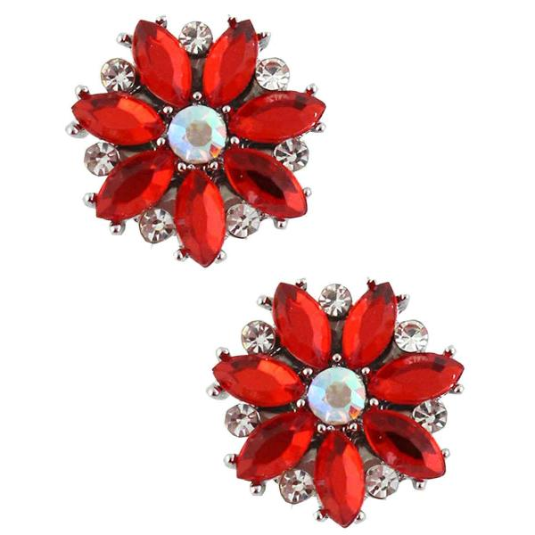 Magnetic Brooches - Small Double Sided MB335 Red (Double Sided) -