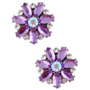 wholesale Magnetic Brooches - Small Double Sided MB335 Purple (Double Sided) -
