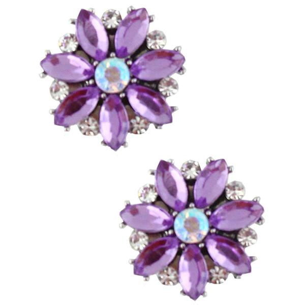 Magnetic Brooches - Small Double Sided MB335 Purple (Double Sided) -
