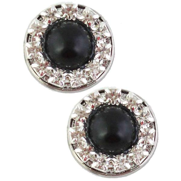 Magnetic Brooches - Small Double Sided MB336 Black-Silver (Double Sided) -