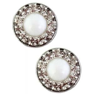 wholesale Magnetic Brooches - Small Double Sided MB336 White (Double Sided) -