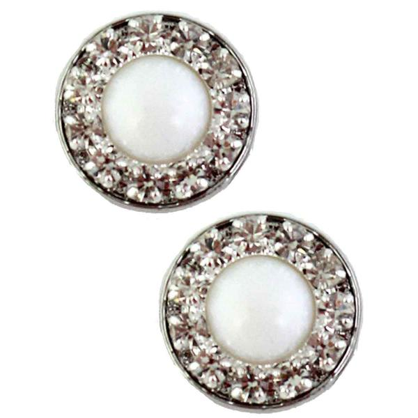 Magnetic Brooches - Small Double Sided MB336 White (Double Sided) -