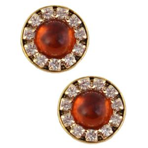 wholesale Magnetic Brooches - Small Double Sided MB336 Amber (Double Sided) -