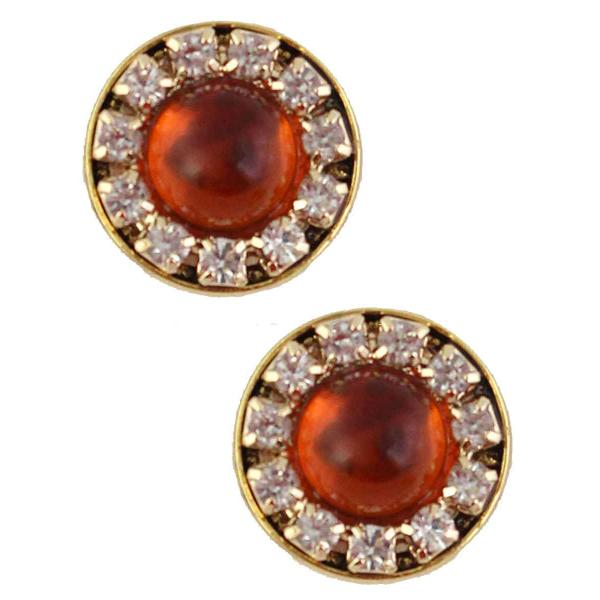 Magnetic Brooches - Small Double Sided MB336 Amber (Double Sided) -