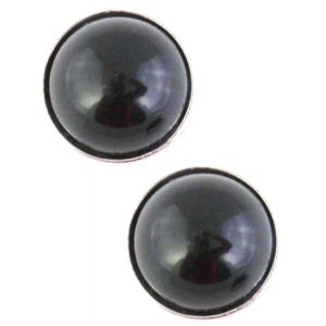 wholesale Magnetic Brooches - Small Double Sided MB337 Black (Double Sided) -