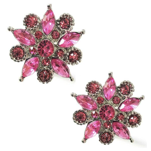 Magnetic Brooches - Small Double Sided MB302 Fuchsia (Double Sided) -