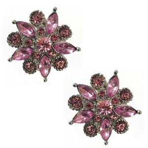 wholesale Magnetic Brooches - Small Double Sided MB302 Pink (Double Sided) -