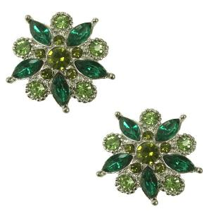 wholesale Magnetic Brooches - Small Double Sided MB302 Green (Double Sided) -