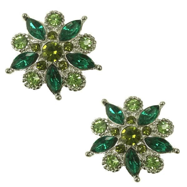 Magnetic Brooches - Small Double Sided MB302 Green (Double Sided) -