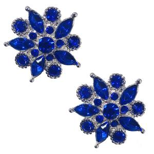 wholesale Magnetic Brooches - Small Double Sided MB302 Blue (Double Sided) -