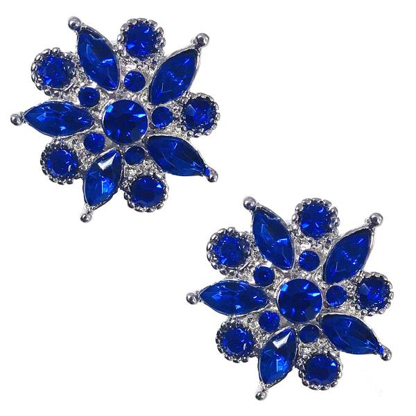 Magnetic Brooches - Small Double Sided MB302 Blue (Double Sided) -