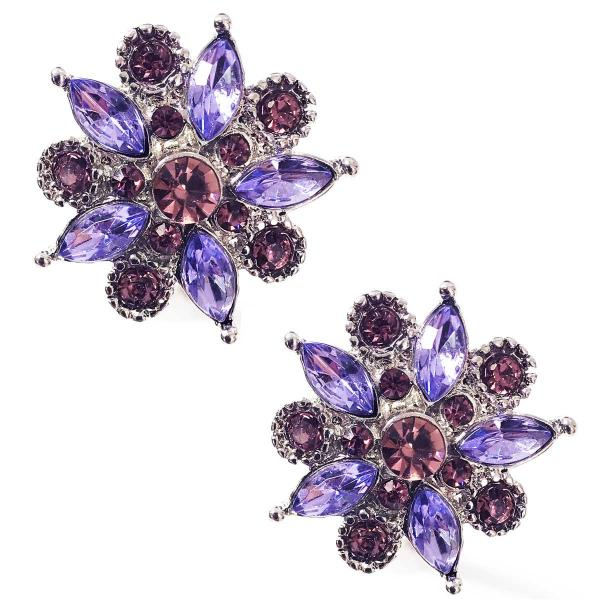 Magnetic Brooches - Small Double Sided MB302 Purple (Double Sided) -