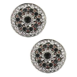 wholesale Magnetic Brooches - Small Double Sided MB330 Black (Double Sided) -