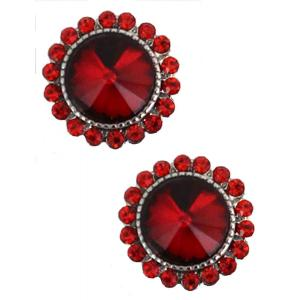wholesale Magnetic Brooches - Small Double Sided MB333 Red (Double Sided) -