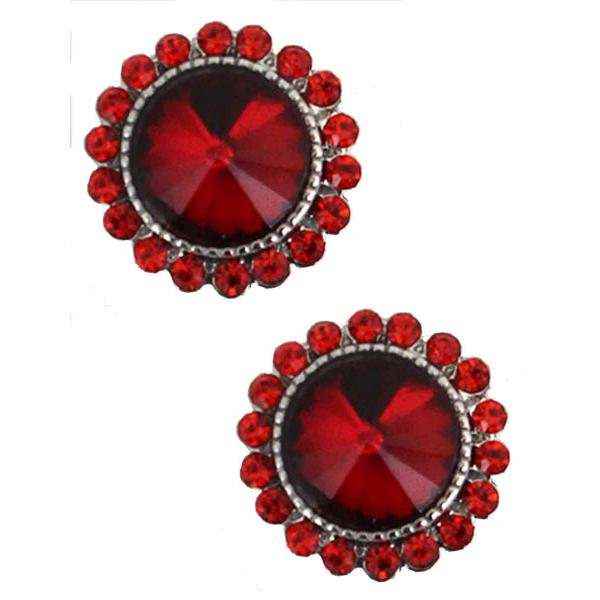 Magnetic Brooches - Small Double Sided MB333 Red (Double Sided) -
