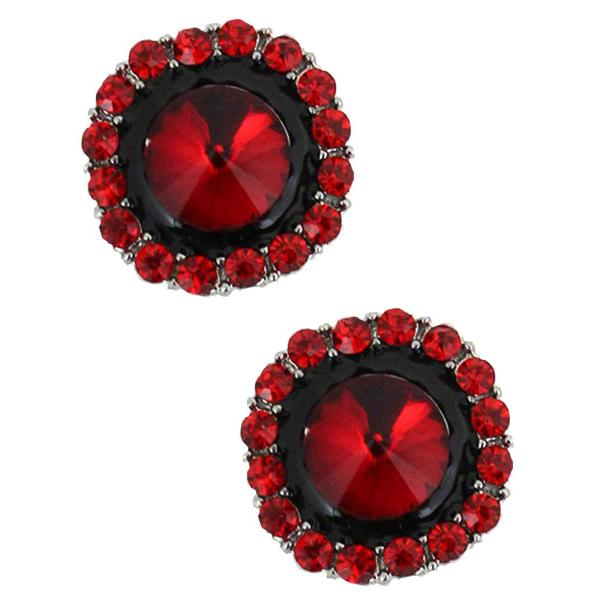Magnetic Brooches - Small Double Sided MB334 Red (Double Sided) -