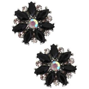 wholesale Magnetic Brooches - Small Double Sided MB335 Black (Double Sided) -