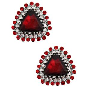 wholesale Magnetic Brooches - Small Double Sided MB400 Red (Double Sided) -