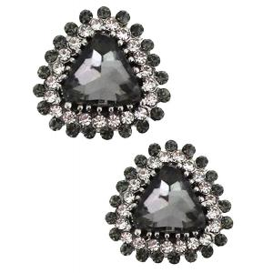 wholesale Magnetic Brooches - Small Double Sided MB400 Black (Double Sided) -