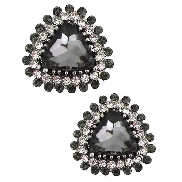 Magnetic Brooches - Small Double Sided MB400 Black (Double Sided) -