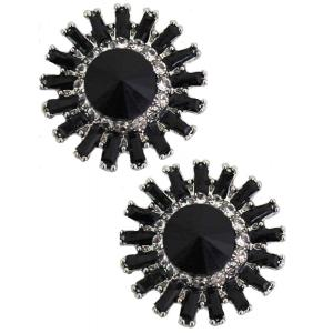 wholesale Magnetic Brooches - Small Double Sided MB401 Black (Double Sided) -