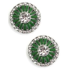 wholesale Magnetic Brooches - Small Double Sided MB402 Green (Double Sided) -