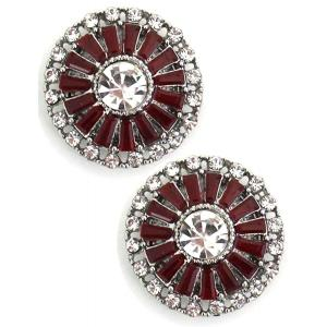 wholesale Magnetic Brooches - Small Double Sided MB402 Red (Double Sided) -